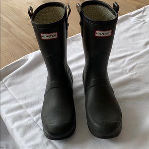 Hunter boots black used